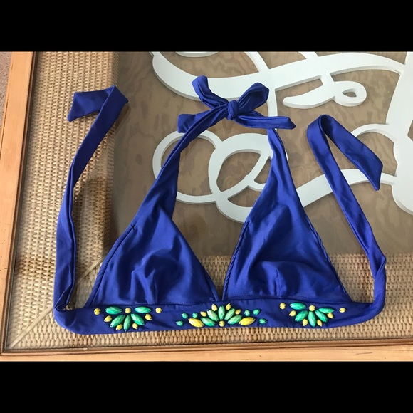 Other - Beaded cobalt swimwear